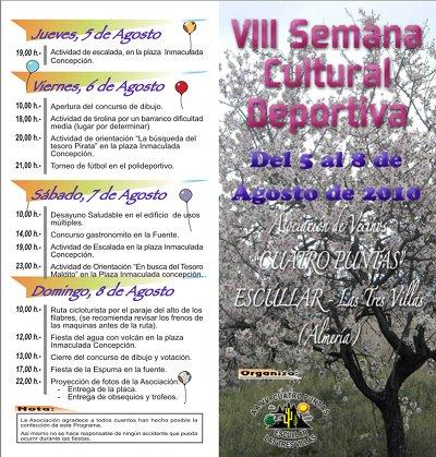 """Faltan pocos días para que comience la """"VIII Semana Cultural Deportiva Escúllar (Las Tres Villas)"""""""