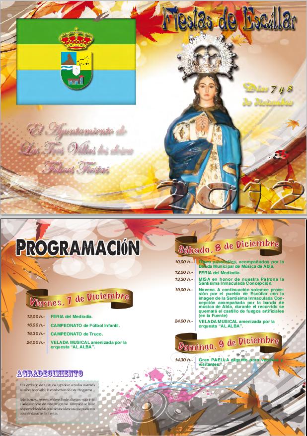 Fiestas Patronales de Escúllar en honor a la Santísima Inmaculada Concepción 7 y 8 de diciembre