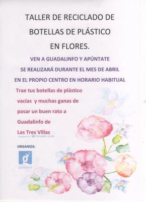 Taller de reciclado de Botellas de plástico en flores.